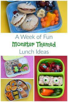 week of quick and easy monster themed healthy packed lunch ideas for kids fom . A week of quick and easy monster themed healthy packed lunch ideas for kids fom ., A week of quick and easy monster themed healthy packed lunch ideas for kids fom . Lunch Snacks, Healthy Packed Lunches, Clean Eating Snacks, Work Lunches, School Lunches, Lunch Box, Bento Box Lunch For Kids, Lunchbox Ideas, Halloween Lunch Ideas