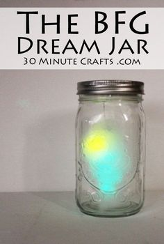 The BFG Dream Jar - make your own dream jar inspired by the movie The BFG... it MOVES around!!