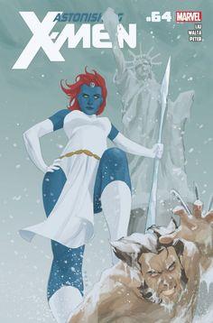 "wolverineholic: "" Astonishing X-Men Vol 3 cover by Phil Noto "" Mystique vs Wolverine by Phil Noto Marvel Comics Art, Marvel Dc Comics, A Comics, Wolverine Comics, Cosmic Comics, Comics Girls, Comic Book Characters, Marvel Characters, Comic Books Art"