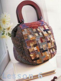 yoko saïto, saito, patchwork, quilt , quilting, taupe, tissus, fabrics, sac, bag