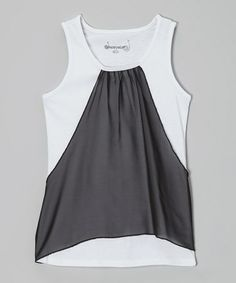 Another great find on #zulily! Black Color Block Tank - Girls #zulilyfinds