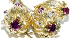 Schlumberger - Tiffany - Broche - Or, Diamants et Rubis - 1990