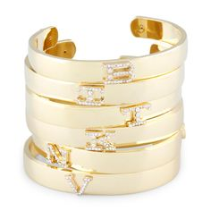 Love this Pave Initial Letter Cuff for on C. Wonder. Christmas Gift lol