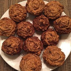 Banana Peanut Butter Muffins shared by tiujuliebrooke. 3 bananas, 1/3 cup peanut butter, 1/2 cup almond milk, 1/2 cup applesauce, 1 tsp vanilla extract, 1 cup Perfect Fit Protein, 1/2 tsp baking soda, 1+1/4 tsp baking powder, 1/2 tsp cinnamon, and 1 cup oats. Spray muffin tin. Mix all dry ingredients together. In a separate bowl, mix together wet ingredients. Combine wet mixture into dry. Pour batter into tin. Swirl 1 tsp of nut butter into each muffin. Bake at 375 degrees for 20 minutes.