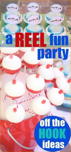 Fishing Party.  This off the HOOK fishing party has creative ideas to celebrate a boys birthday, or even Father's Day.  Fun cake pops, cupcakes, treats and activities.