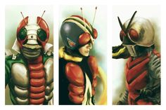Kamen Rider V3 Riderman and X