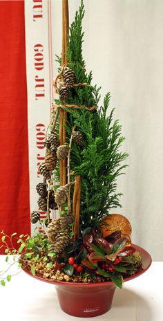 http://holmsundsblommor.blogspot.se/2011/12/julgrupp-i-rod-skal.html Christmas decoration