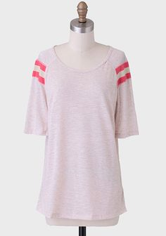 On Your Marks Stripe Accent Tee at #Ruche @Ruche