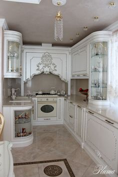 58 Ideas For Kitchen Cabinets Refinish Dining Rooms Luxury Kitchen Design, Luxury Kitchens, Home Kitchens, Shabby Chic Kitchen, Home Decor Kitchen, Kitchen Interior, Interior Modern, Küchen Design, Layout Design