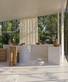 Home Interior, Interior And Exterior, Interior Design, Cabinet D Architecture, Interior Architecture, Brutalist Design, Jungle House, Verre Design, Glazed Walls