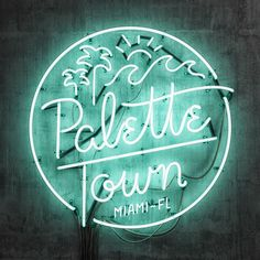 Neon Type & Lettering Collection on Typography Served Typography Served, Creative Typography, Typography Letters, Typography Logo, Logos, Neon Design, Logo Design, Mint Aesthetic, 3d Type