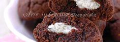 Biscotti ripieni al cocco, biscotti cuore di cocco, cioccolato, frolla al cacao, ricetta facile veloce, biscotti facili merenda, biscotti bounty, senza lievito