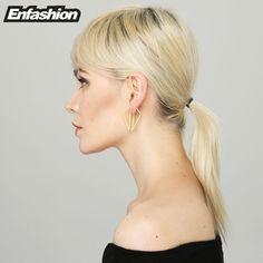 Enfashion Triangle Double Sided Earrings Stud Earring Gold Plated Earings Stainless Steel Earrings For Women Jewelry Brincos-in Stud Earrings from Jewelry & Accessories on Aliexpress.com | Alibaba Group