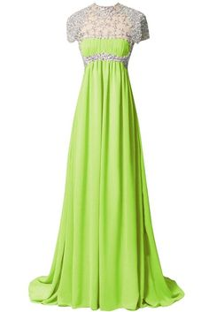 Amazon.com: ORIENT BRIDE 2015 A-line Scoop Long Chiffon Prom Dress with Beads and Crystals: Clothing