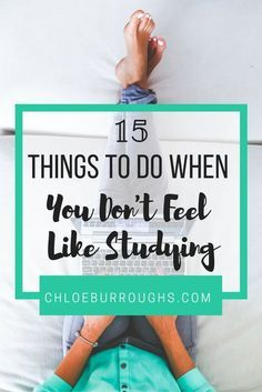 Successful students study even when they don't want to. Learn which university or college tasks you should tackle when you have little time or motivation
