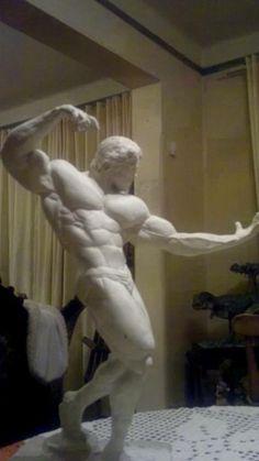 "Arnold Schwarzenegger in ""Pumping Iron"" 1975."