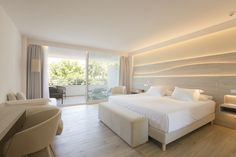 Junior Suite - Canyamel Park Hotel & Spa in Canyamel, Capdepera, Mallorca  #Hotel #JuniorSuite #Room #Views #Relax #Canyamel #Capdepera #Mallorca Spa Hotel, Rooms, Bedroom, Interior, Furniture, Home Decor, Bedrooms, Indoor, Homemade Home Decor