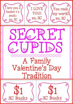 What a CUTE family tradition for Valentine's Day!  So easy! Love the free printables too.