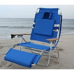 Beach Chair Outdoor Pool Patio Folding Adjustable Positions Footrest Comfortable #Ostrich