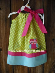 Bright Owl Girl Pillowcase Dress. $28.00, via Etsy.