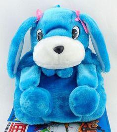 READY TO SHIP Dog Backpacks for Kids-Blue Animal Plush Toys for Baby Girls-Kindergarten Blue Backpacks