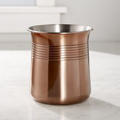 copper utensil holder crate and barrel