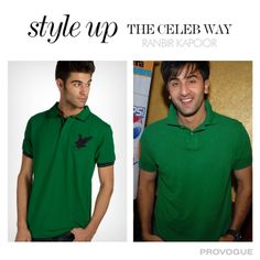 Now wear green the #RanbirKapoor way. Shop now at http://bit.ly/1gcgTCL