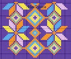 Colombian mochila. Knit jacquard bag hook