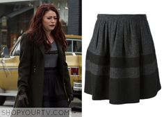 ShopYourTv:Once Upon a Time: Season 3 Episode 11 Belle's Striped Wool Flare Skirt - ShopYourTv