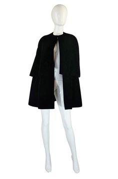 1967 Couture Christian Dior Velvet Cape