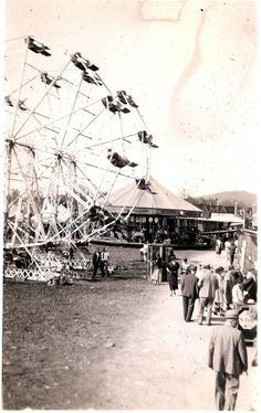 1930s carnival midway.