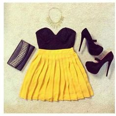 want this yellow skirt !!!