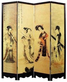 Geisha Girls Japanese Shoji Screen