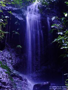 Deep Blue Mountain Waterfall
