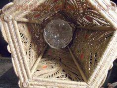 Мастер-класс по филиграни из джутового шнура: Ажурный светильник