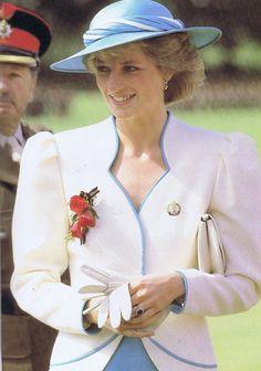 Princess Diana Inspecting Hampstead Regiment, July 1986