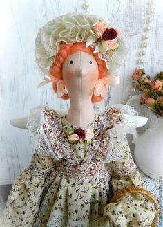 Купить Жаклин, девочка-цветочница. Интерьерная кукла в стиле Тильда. - кукла Тильда