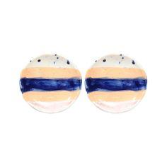 Petites assiettes Brush - Set de 2  Bleu-product