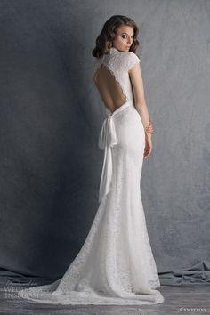 cymbeline wedding dresses 2014 bridal hobbie cap sleeve lace gown keyhole back