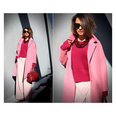Diana Broussard Necklace styled by Galant-Girl Ellena in Shades of PINK. Оттенки розового.—see looks like this and more on LOOKBOOK.