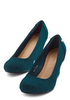 Departure Terminal Wedge. Glide to your gate in these wearable teal wedges! #blue #modcloth