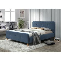 0 Bedroom Bed, Shabby Chic, Interior, Modern, Blue, Furniture, Design, Home Decor, Polyvore