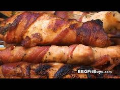 Looking for another way to grill up some chicken? Check this recipe out. These grilled chicken kabobs are tasty, tender and juicy every time. And they're quick and easy to do on the barbecue grill with these few simple tips by the BBQ Pit Boys. Be sure to make a bunch of these Bacon Wrapped Chicken Skewers because for sure there won't be any lef...