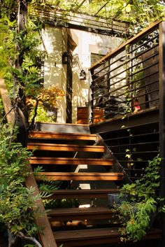 Outdoor Stairs in Park Slope Garden by Kim Hoyt Architect, Gardenista