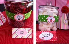 lady bug party candies
