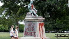 People walk past a monument to Confederate soldiers in Centennial Park on June 17 in Nashville. Confederate Statues, Confederate Monuments, Irritating People, Visit Nashville, Parks Department, Centennial Park, Red Paint, Us History, Civilization