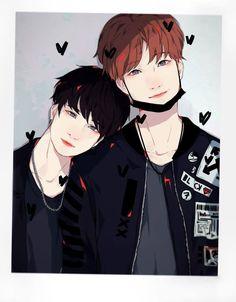 Min Yoonji, Art Folder, Dream Boy, Army Love, Bts Fans, Kpop Fanart, Vmin, Yoonmin, Aesthetic Anime
