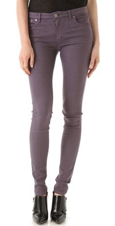 """I love that these are called """"power skinny jeans"""" Victoria Beckham Jeans, Purple Jeans, Cute Pants, Dusty Purple, Best Wear, Wardrobe Staples, Autumn Winter Fashion, Skinny Jeans, Fashion Outfits"""