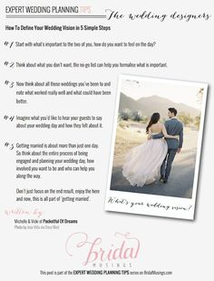 Wedding Planning Tips: How To Define Your Wedding Vision by @Emma Zangs Zangs Zangs of Dreams