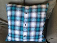 Flannel Shirt Memory Pillow / Boyfriend Pillow